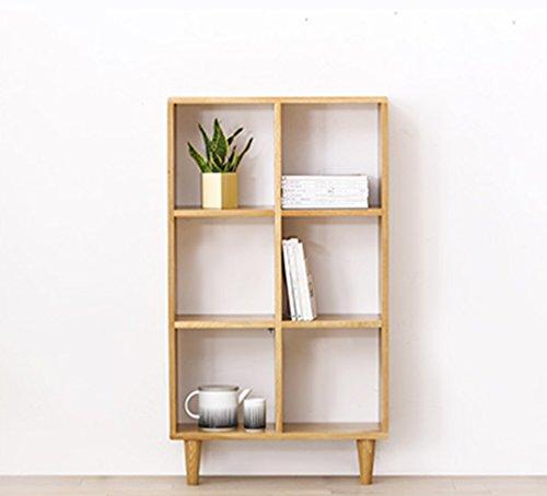 Estante, Estudio práctico creativo Mueble Estantería de madera maciza Estantería simple de roble Estantería de libro