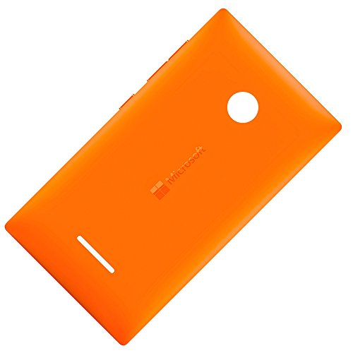 Microsoft Lumia 435 & 435 Dual Sim Original Akkudeckel Orange Batterie-Deckel Back-Cover Akkufachdeckel Klappe