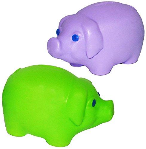 alles-meine.de GmbH große - Spardose -  buntes Schwein  - stabile Sparbüchse aus Kunststoff / Plastik - Sparschwein - für Kinder & Erwachsene / lustig witzig - Geldgeschenk - R..