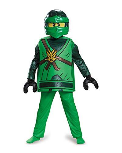 Lego Ninjago 98099K Ninjago Lloyd Kostüm Deluxe M (7-8 J.), Jungen, grün, 127-136 cm