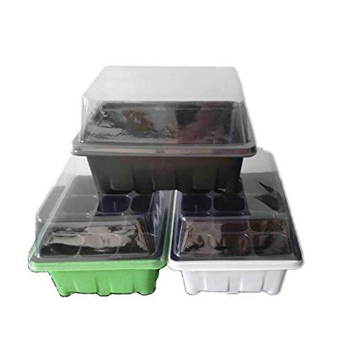 Ndier AzuNaisi Pflanze Box Sämling Box Pflanze Pflanzen Inkubator für kleine Keimlinge Anbau Werkzeuge Gartenzubehör 12 Loch Random Color 1 Set. homezubehör