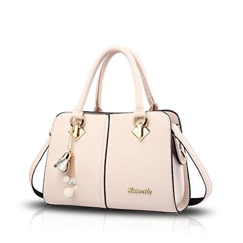 Sunas Borsa superiore della borsa del messaggero della spalla della cucitura della borsa di traversa della borsa delle nuove signore di modo bianca
