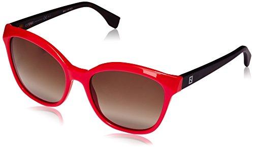 Fendi Damen Cateye Sonnenbrille FF 0043/S HA, Gr. 55 mm, Mehrfarbig, MHK