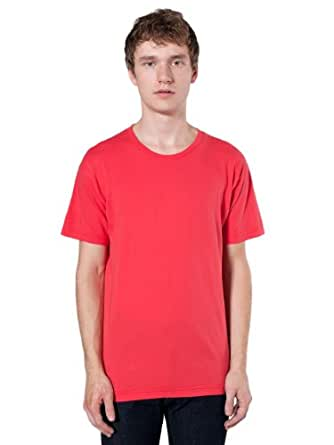 American Apparel Power Wash Crewneck T-Shirt - Red Punch / M