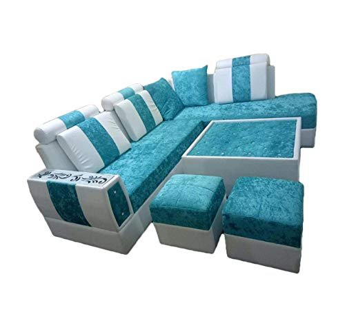 Divya Furniture Presents Hometown Exclusive Wood with Eight Sofa Seating Perfect for Living Room