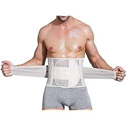 Hommes Minceur Contrôle Taille Shaper Compression Ventre De Bière Respirable Abdomen Shaper Ceinture Nu XXL