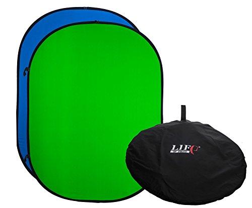 YouTube Chromakey Greenscreen | Green / Blue Backdrop/Background | Digital  Screen, Portable, Pop Up, 100% Cotton, Muslin, Foldable, Folding, Double