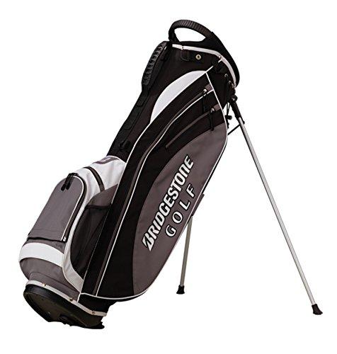 BRIDGESTONE, Sacca porta mazze da golf con supporti, Nero (Black/White), 45 x 30 x 100 cm, 75 ls