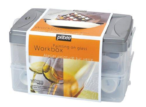 Pebeo Vitrea - Caja con utensilios para pintar sobre vidrio
