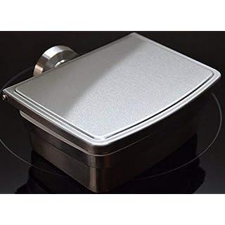 Ovibell Feuchttücherbox- aus hochwertigem Edelstahl-kein Bohren- kein Austrocknen der Tücher- inklusive nie wieder bohren Klebeset