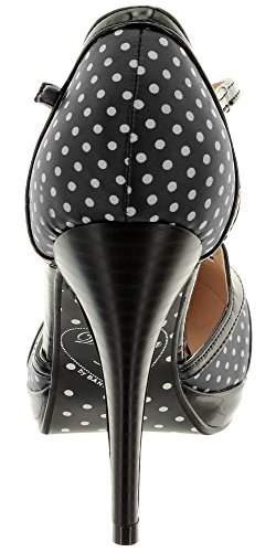 Dancing Days by Banned High Heels ONE NOTE SAMBA 195 Black