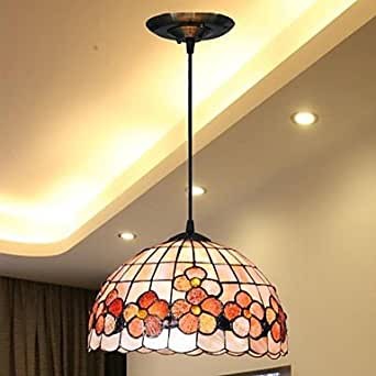 "SIC - 12 ""- design floral tissu softshell suspension tiffany suspension"