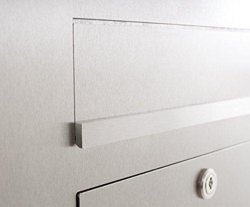Edelstahl Briefkasten Stele mit Gira Videosprechanlage + Wohnungsstation + Steuergerät – Komplettset - 6