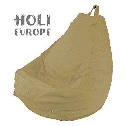 Holi Europe Premium Beanbag Sitzsack mit Füllung 220L ABWASCHBAR mit Innensack Sitzkissen Kissen...