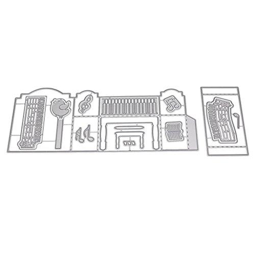 Tote di Metallo Taglio di Metallo Taglio di Carta Scrapbooking Goffratura Fai da Te Stencil Fustelle Figura Decorative Bordi Metallici per Greeting Card Copertura Fai da Te Argento