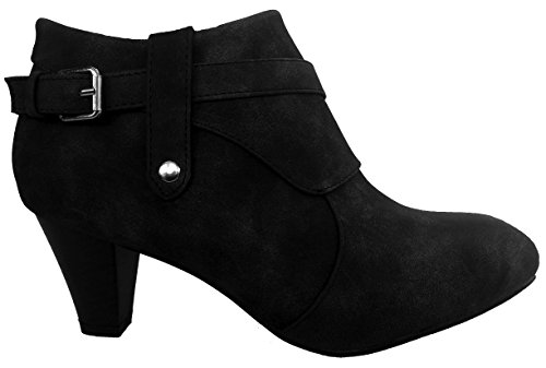 Cushion Walk Womens Side Zip Fashion Boots - Charcoal Grey/Soft Black -...