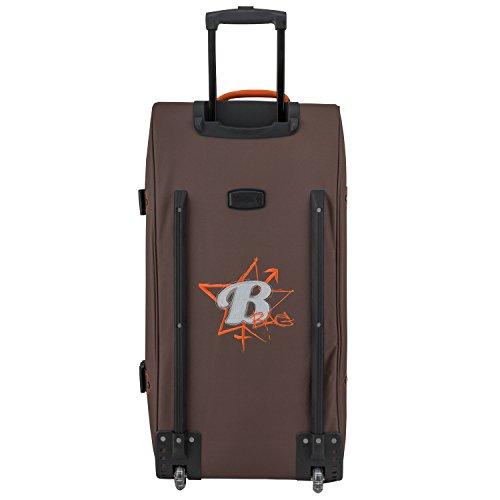BoGi Bag Reisetasche Koffer Trolley Tasche türkis 110L orange/braun