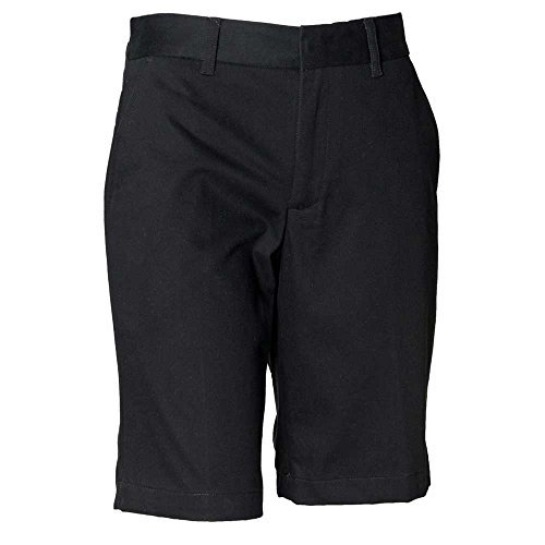 Henbury Womens Teflon Coated Chino Casual Cotton Shorts Black