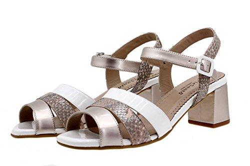 Komfort Damenlederschuh PieSanto 1493 Sandalette bequem breit Nude