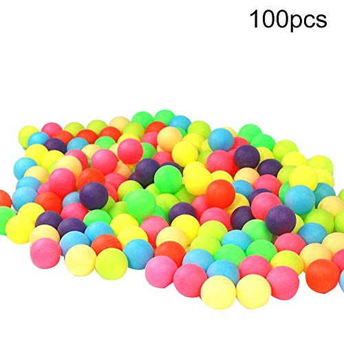Bodhi2000 Colored Ping Pong Balls 40mm, Plastic Table Tennis Ball for Party Favors, Carnival Games, Crafts, Cats Dogs Toy, Random Color Random Color