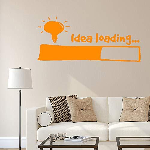 jiushizq Idea Loading Wandaufkleber Wandkunst Aufkleber Dekoration Für Schlafzimmer Wohnzimmer Abnehmbare Vinylwanddekor L 4 120X57 cm