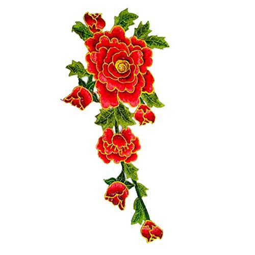 kanggest Patches,Patches Zum aufbügeln,Flicken Sticker, Rose Blume Bügelflicken DIY Kleidung Patches Aufkleber Niedlich Aufnäher für T-Shirt Jeans Hut Dekor Taschen -