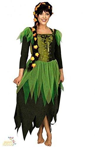 Feen Kostüm grün für Damen | Größe 44/46 | 1-teiliges Märchen Kostüm | Waldfee Faschingskostüm | Elfenkostüm für Karneval