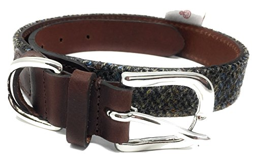 The British Bag Company 'Britische mit Harris Tweed und Leder-Halsband, 25 mm...