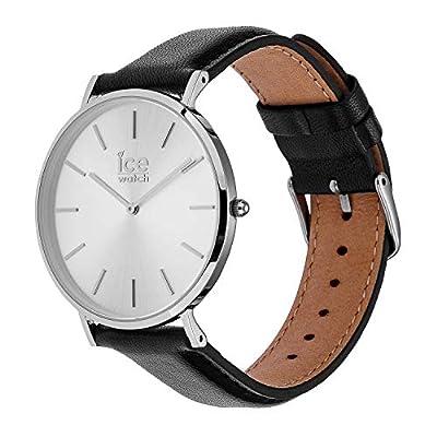 Ice-Watch - City Classic Black Silver - Reloj Negro para Hombre con Correa de Cuero - 16226 (Medium) de Ice-Watch