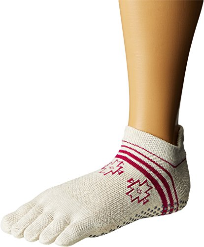 Toesox Full Toe Low Rise Grip Socken für Yoga, Pilates, Fitness rutschfeste Skid Socken - 1 Paar (Ritual, Small)