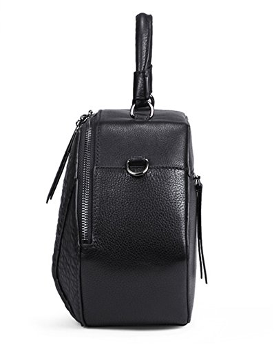 Xinmaoyuan Sacs à main pour femme Sacs à main en cuir Sac à bandoulière sac Messenger femelle Paquet de diamant Black