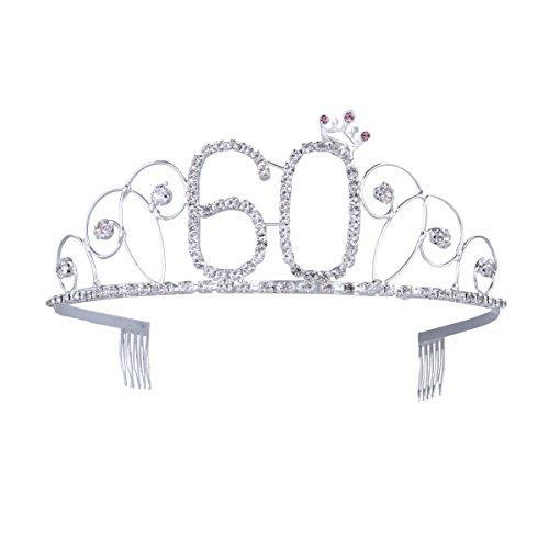 frcolor Happy Birthday 60. Kristall Strass Tiara Krone