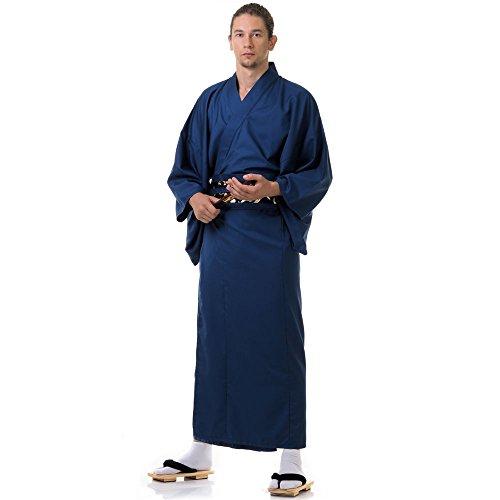 Princess of Asia Japanischer Herren Yukata Kimono Baumwolle M L XL Blau