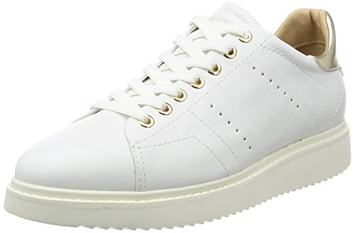 Geox D Thymar A, Sneakers Basses Femme Blanc (Whitec1001)