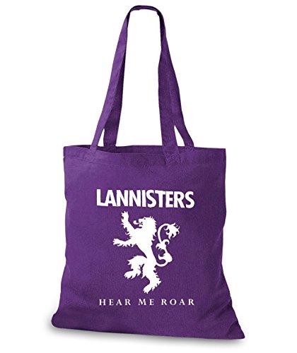 StyloBags Jutebeutel / Tasche Lannisters - Hear me Roar Lila