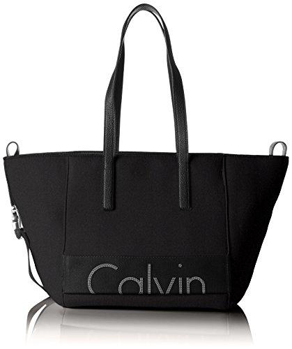 Calvin Klein Re-Issue # Tote Neoprene, Sacchetto Donna, 18 x 29 x 28 cm (B x H x T) Nero (Black)