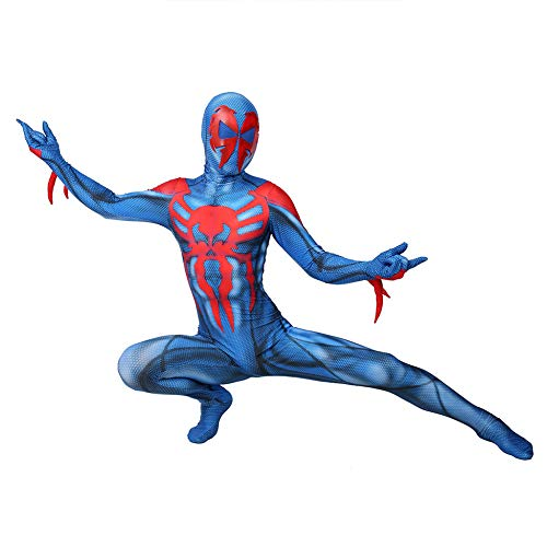 Kostüm Spiderman 2099 - ERTSDFXA 2099 Venom Spiderman Kostüm Kinder Erwachsener Costume Unisex Halloween Weihnachten Party Spandex Jumpsuits,Adult-XXXL(Height71-73Inch)