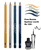 AYA Clamy Singly Apply Eyeliner Pencil - Pack of 4