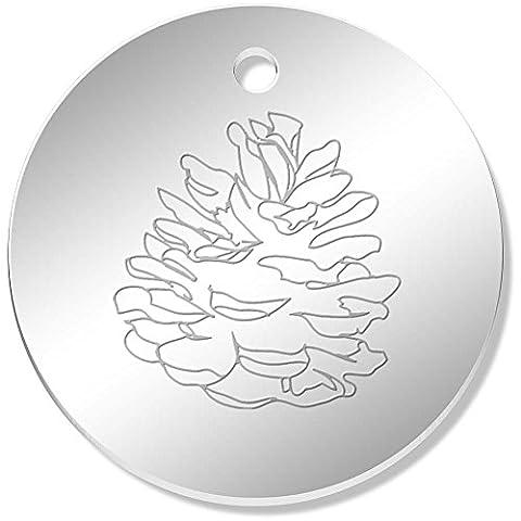 11 x 34mm 'Pretty Pinecone' Mirror Pendants / Charms (PN00032423)