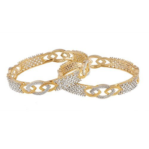 Manikya Gold American Diamonds Bangles Size - 2.4  available at amazon for Rs.449