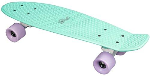 Skateboard Fun, No Rules, mint/lila
