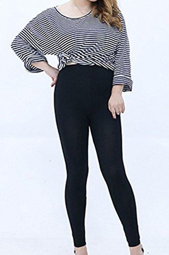 YACUN Les Jambières Et Chevilles Collants Pantalon Extensible Taille Black