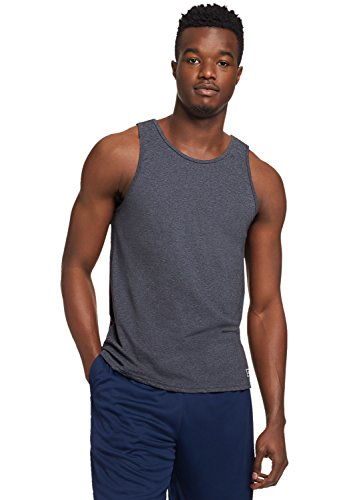 Russell Athletic Herren Essential Cotton Tank Top - grau - X-Groß (Athletic Tank Russell Top Athletic)