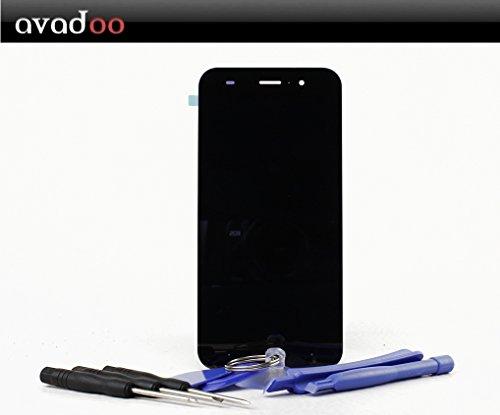 avadoo® ZTE Blade V6 LCD Touchscreen schwarz Reparaturglas Touch Screen Display Glas für das ZTE Blade V6 in schwarz inklusive Werkzeugset und Beschreibung !!! Ldc Display