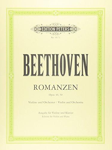Romanzen für Violine und Orchester - G-Dur op. 40 · F-Dur op. 50: Ausgabe für Violine und Klavier