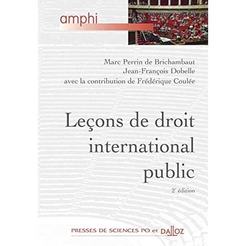 Leçons de droit international public - 2e éd.: Amphi - Presses de Sces Po et Dalloz