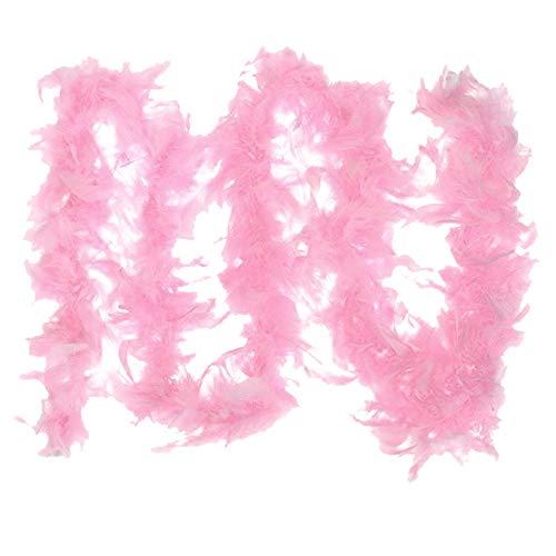 GreatestPAK Damen Kostüm Feder Boa Burlesque Showgirl Hen Night Festival Zierschal, Rosa