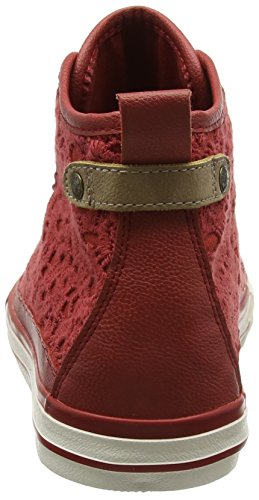 Mustang 1146-507-5, Sneakers Hautes Femme Rouge (5 Rot)