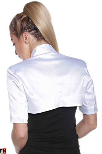 Fashionissta - Canotta - Collo a U  -  donna Bianco