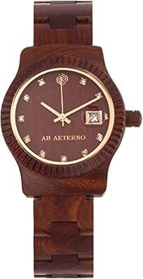 """AB AETERNO """"Aurora"""" 100% Natural Madera Sandalo Rojo Swiss Movement Swarovski Hipoalergénico Mujer Reloj de AB Aeterno"""